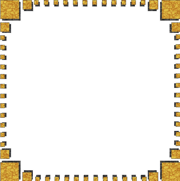 golden square frame with pattern overlay