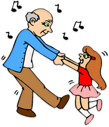 dancing with granddaughter