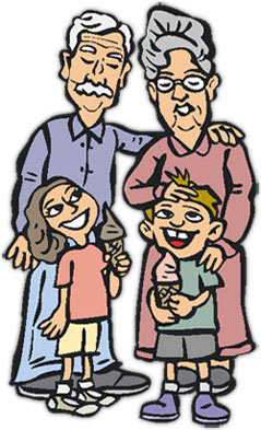 Free Grandparents Day Clipart - Graphics