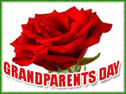 grandparents day with red roses
