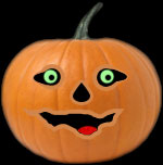 funny jack-o'-lantern for black pages