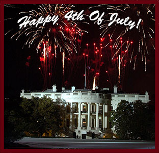 Whitehouse and fireworks