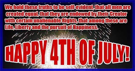 All Men Are Created Equal - Happy 4th of July
