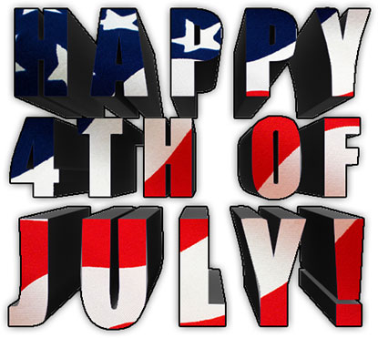 Happy 4th of July in 3D