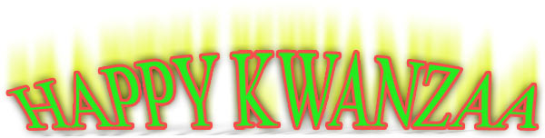 Happy Kwanzaa green and red