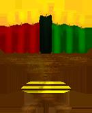 Kwanzaa candles in holder