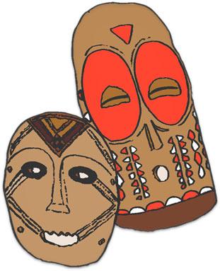 Kwanzaa masks