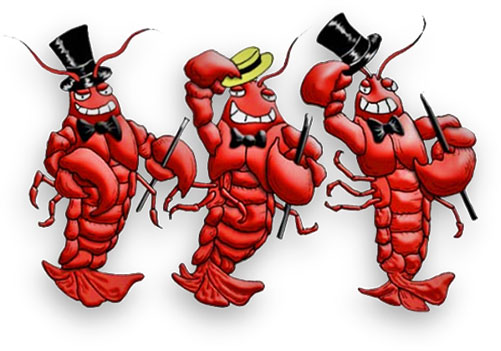 well dressed lobsters