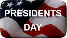 presidents day button on the American flag