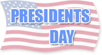 presidents day flag