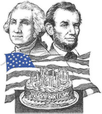 George Washington and Lincoln