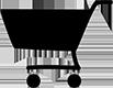 black shopping cart