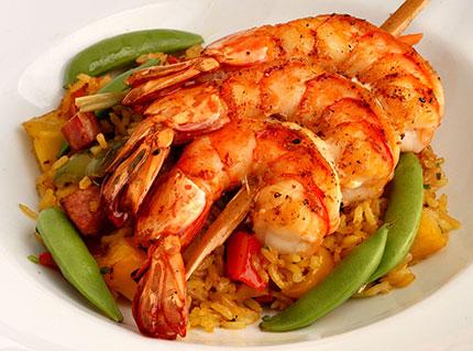 asian shrimp platter